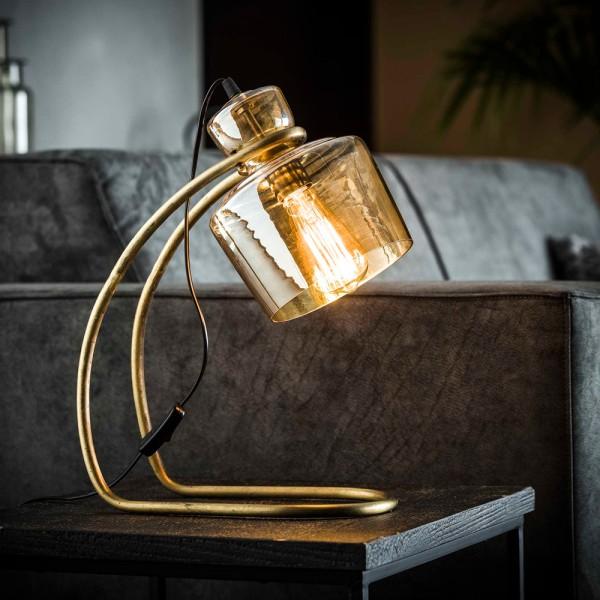 Tischlampe H 45 cm Freischwinger Glas Metall bronze Tischleuchte Lampe Leuchte