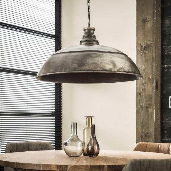 Industrie Design Hängelampe rund 80 cm Metall Loft Lampe Hängeleuchte