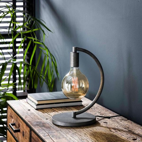 Tischlampe 1L COCIO H 33 cm Metall altsilber Tischleuchte Lampe Leuchte