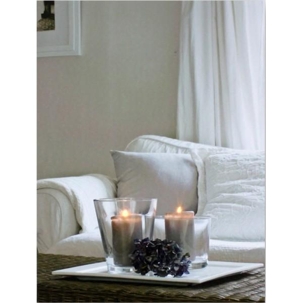 Leuchtbild WINDLICHT & SOFA LED Bild Kerze Wandbild Kerzen Leinwand 40 x 30 cm