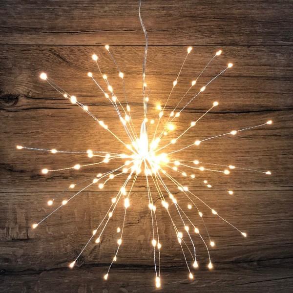 LED Leuchtstern LITTLE STARS silber 160 Lichtern Sternenlampe Sternenlampe
