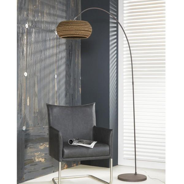 Bogenlampe Carta H 200 cm braun 1flg Stehlampe Standleuchte Lampe Standlampe
