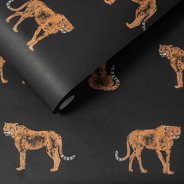 Hochwertige Vliestapete Leopold schwarz Dekor Tapete