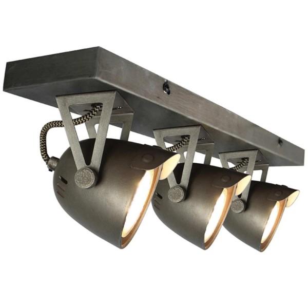 LED Deckenleuchte SPOT CAP 3 flg Metall grau Lampe Deckenlampe Deckenbeleuchtung