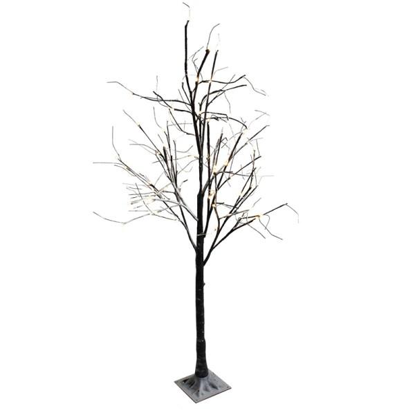Dekobaum LED Baum beschneit 180 cm Lichterbaum Weihnachtsbaum Deko 96 LED