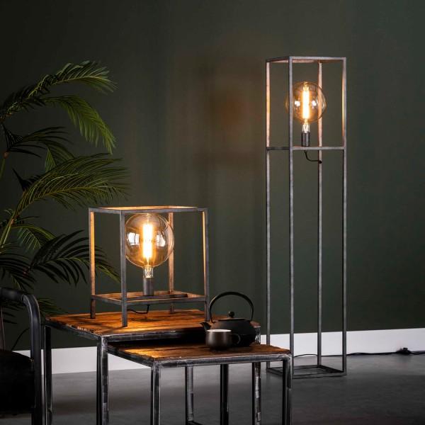 Stehlampe Cuadrado 1 flmg Metall alt Silber Finish Standleuchte Stehlampe Lampe