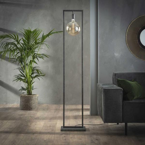 Flurlampe Sky Metallrahmen H 166 cm altsilber Standleuchte Stehlampe Lampe