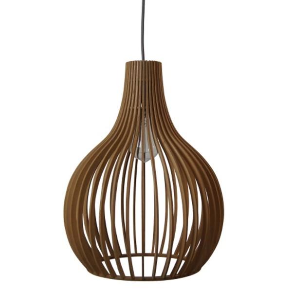Vintage Hängelampe LILY Ø 35 cm Hängeleuchte Lampe Pendelleuchte Holz braun