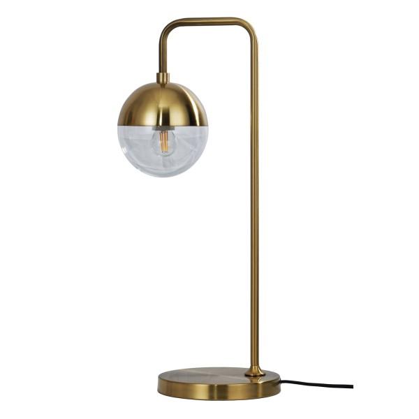 Tischlampe 1L Globular H 59 cm Metall antikmessing Tischleuchte Lampe Leuchte