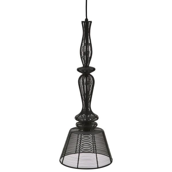 Hängelampe APOLLO Metall vintage schwarz Ø 25 cm Hängeleuchte Lampe Leuchte-Copy
