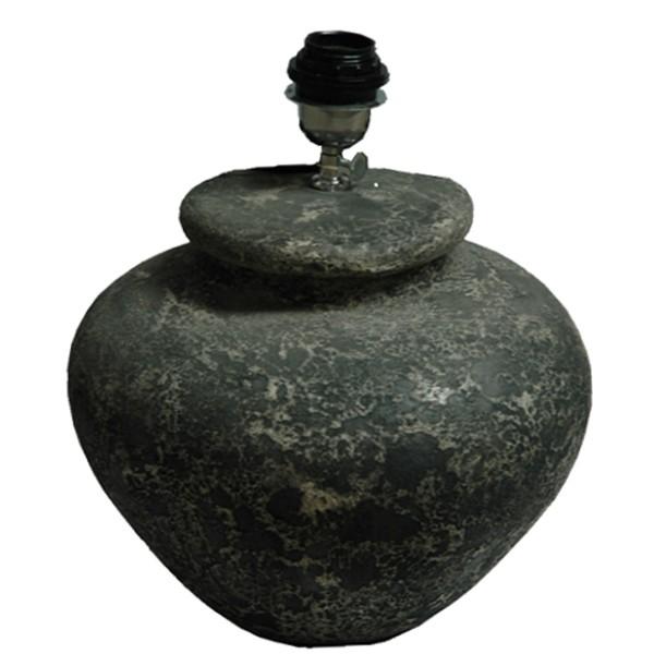 Tischlampe ANNELIES 03 Lampe rund Ø 30 cm Leuchte Tischleuchte Stein grau