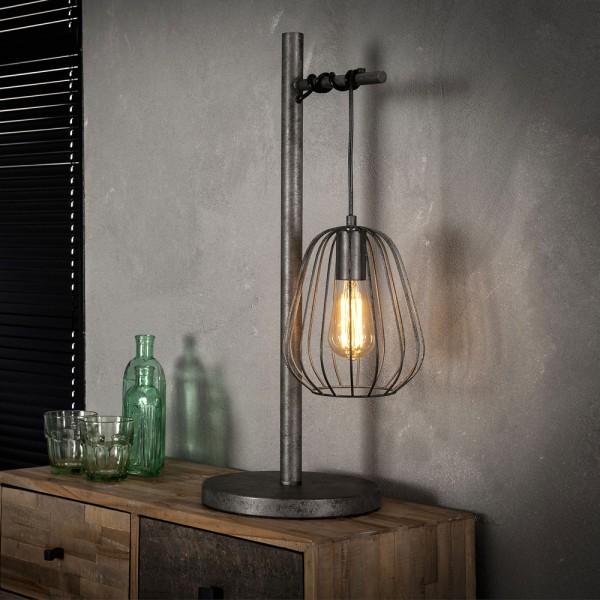 Tischlampe Lampoon 1 flmg H 66 cm Metall altsilber Leuchte Tischleuchte Lampe