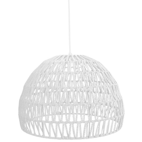 Hängelampe Rope Ø 38 cm Baumwolle weiß Hängeleuchte Leuchte Lampe Deckenlampe