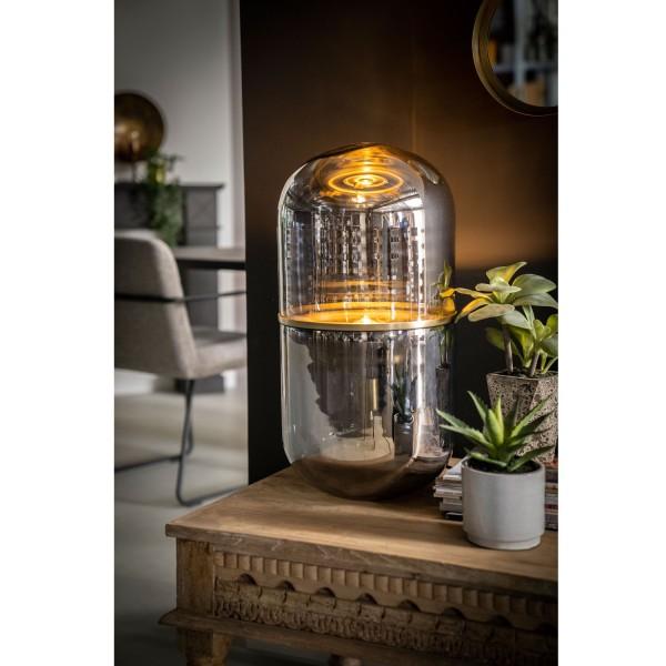 Tischlampe Halo H 62 cm 1L Metall bronze Tischleuchte Lampe Leuchte