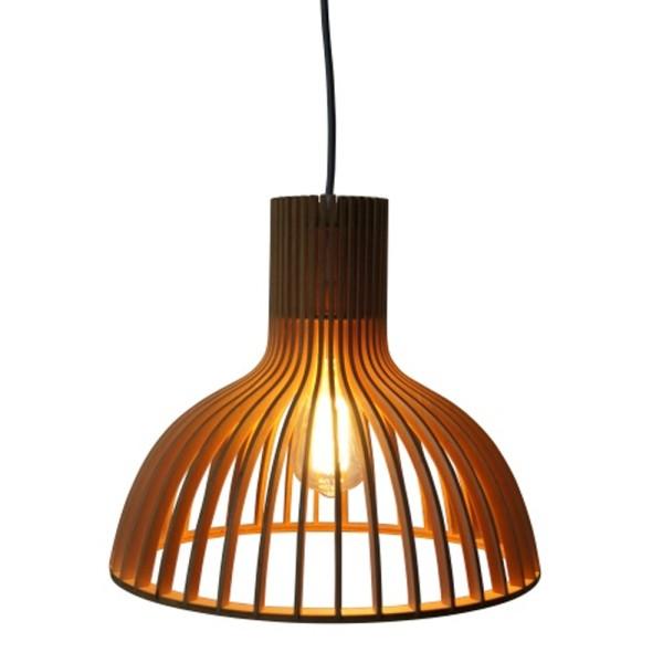Vintage Hängelampe INDY Ø 35 cm Hängeleuchte Lampe Pendelleuchte Holz braun