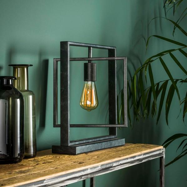 Tischlampe 1L TURNO H 38 cm Metall kohlegrau Tischleuchte Lampe Leuchte
