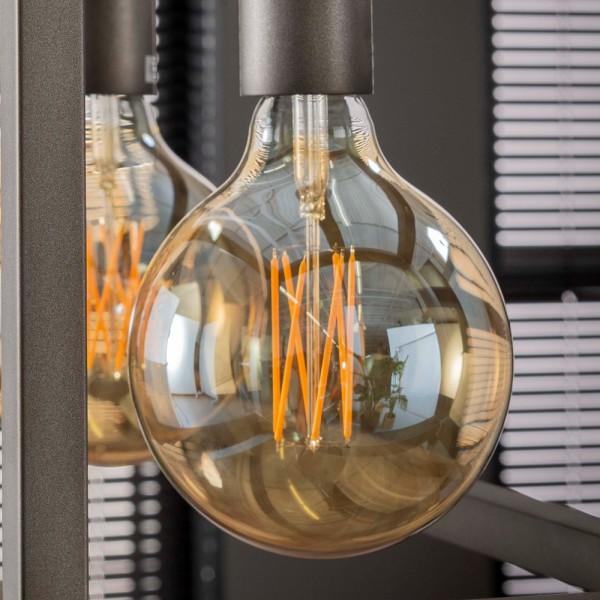 LED Glühlampe Filament Globus Ø 12,5 cm Leuchte Glühbirne 6W E27 Lampe dimmbar