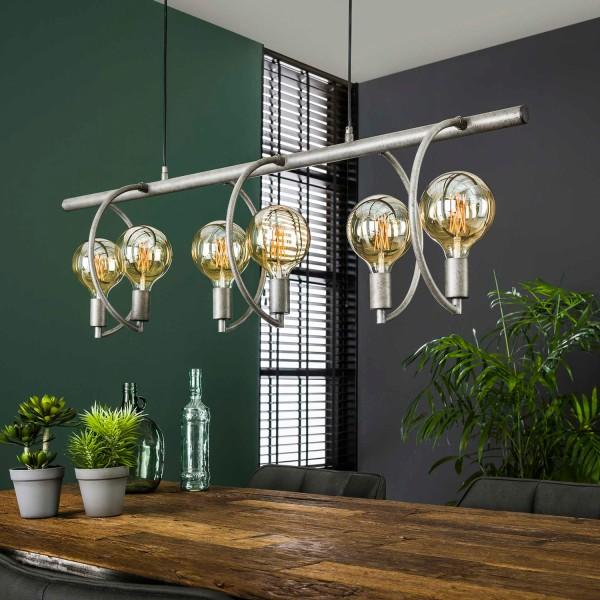 Hängelampe COCIO 6 flmg Metall altsilber Finish Lampe Deckenlampe Hängeleuchte