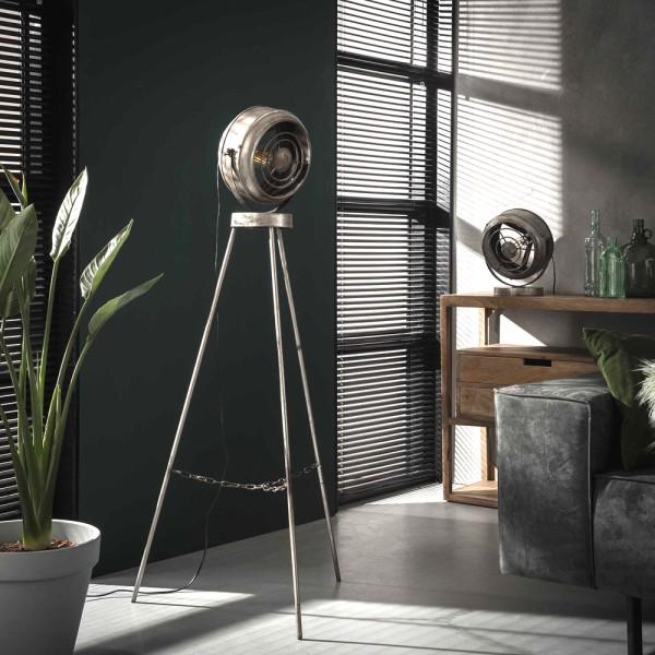 Flurlampe Beam H 133 cm Metall altsilber schwenkbar Standleuchte Stehlampe Lampe