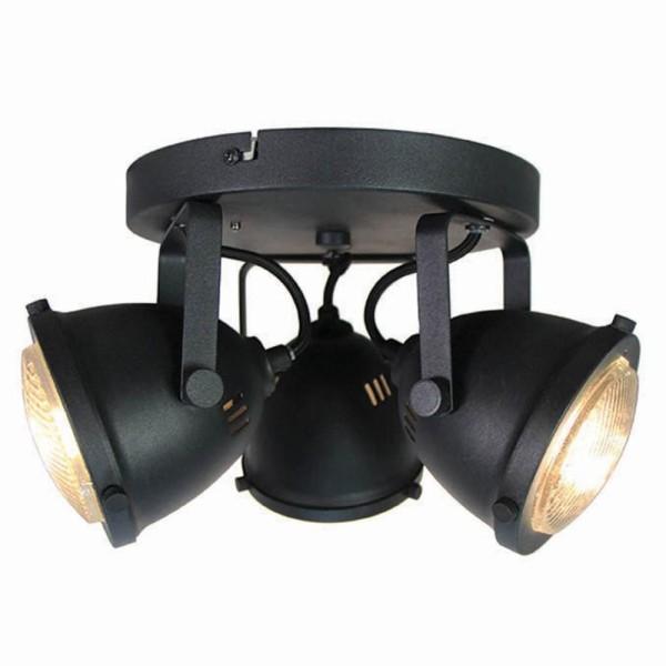 LED Deckenleuchte MOTO 3 flg Metall schwarz Lampe Deckenlampe Deckenbeleuchtung
