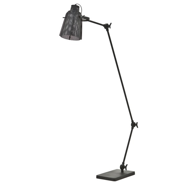 Stehlampe APOLLO schwenkbar Flurlampe Lampe Leuchte Standleuchte Metall schwarz