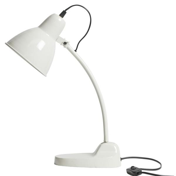 Tischlampe MASTERPIECE Metall weiß Schreibtischlampe Lampe Leuchte Tischleuchte