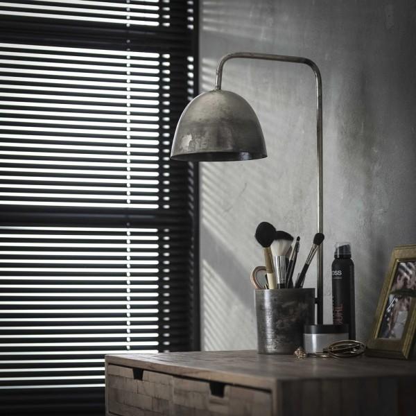 Tischlampe Storage H 60 cm Metall altsilber Leuchte Tischleuchte Lampe