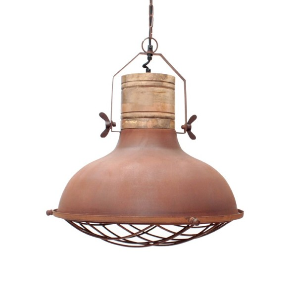 Industrie Lampe Design Hängelampe GRID 52 cm Metall Hängeleuchte Kupfer
