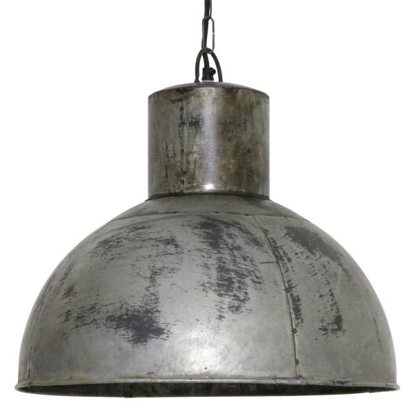 Vintage Hängelampe EKIN Ø 43 cm Hängeleuchte Lampe Pendelleuchte Metall Silber