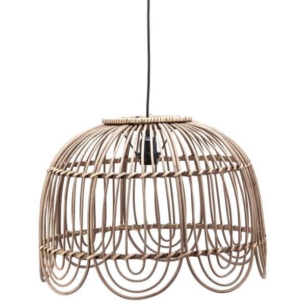 Hängelampe JIN Ø 43 cm Bambus Rattan natur Hängeleuchte Lampe Deckenlampe