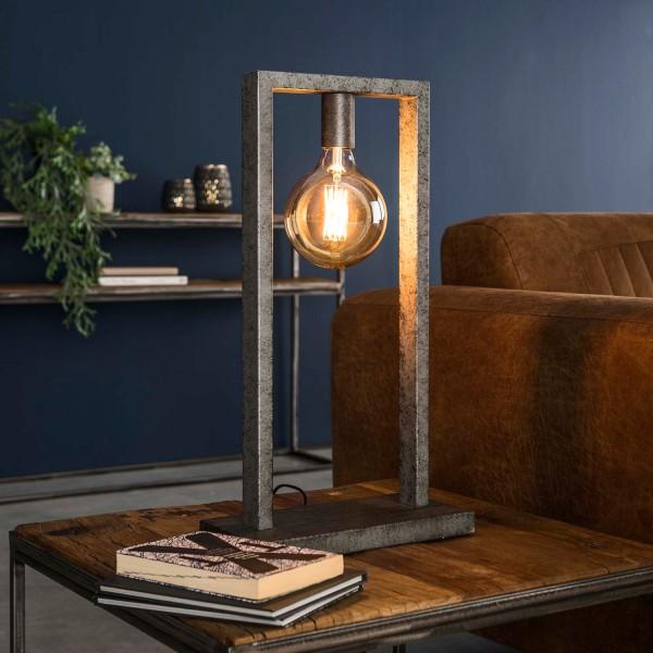 Tischlampe Porto 1 flmg H 55 cm Metall alt silber Tischleuchte Lampe Leuchte