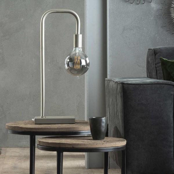 Tischlampe U-Rohr 1 flmg H 58 cm Metall matt nickel Leuchte Tischleuchte Lampe