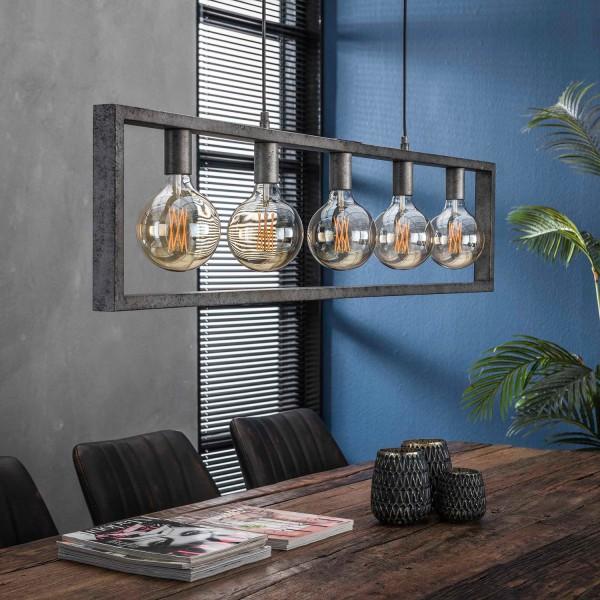 Hängelampe Porto 5 flmg Metall alt Silber Deckenleuchte Lampe Hängeleuchte