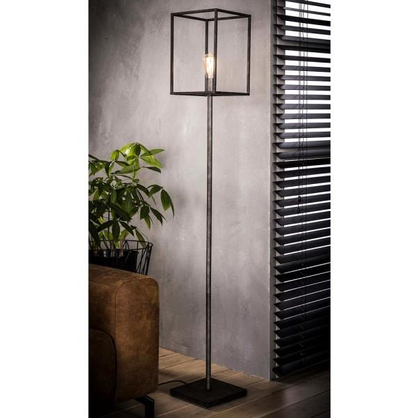Flurlampe Cubic H 170 cm Metall altsilber Standleuchte Stehlampe Lampe Leuchte