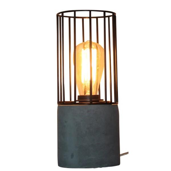 Tischlampe MADRID KOKER Schreibtisch Lampe Leuchte Tischleuchte Betonlook Metall