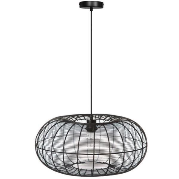 Vintage Hängelampe Cosmo Hängeleuchte Lampe Pendelleuchte Metall schwarz