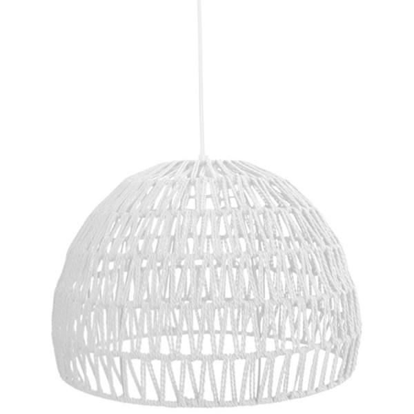 Hängelampe Rope Ø 50 cm Baumwolle weiß Hängeleuchte Leuchte Lampe Deckenlampe