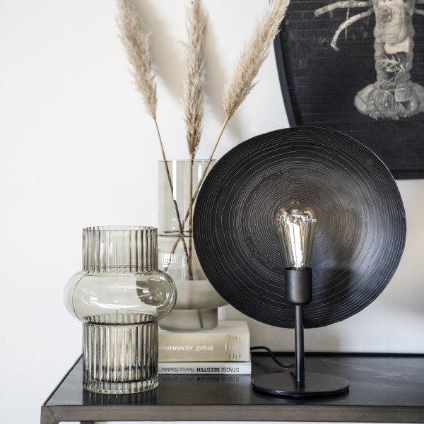 Tischlampe 1L Monque Metall schwarz Tischleuchte Lampe Leuchte