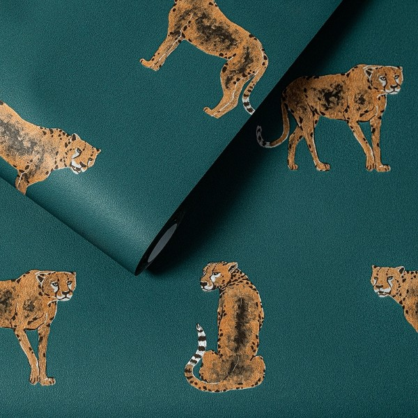 Hochwertige Vliestapete Leopold smaragdgrün Dekor Tapete