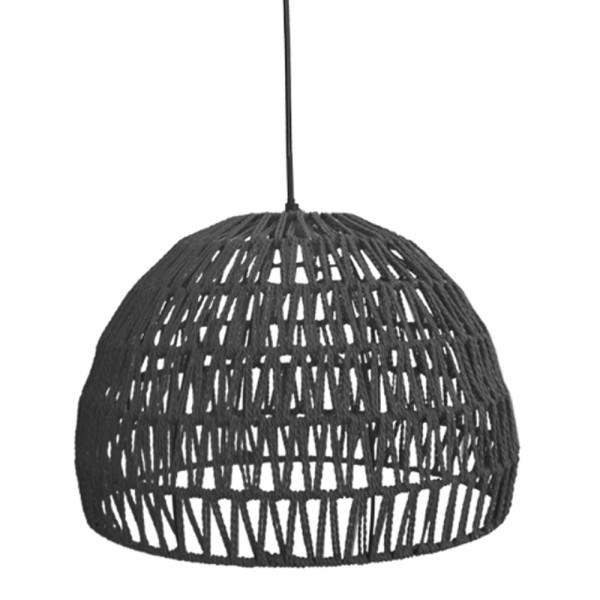 Hängelampe Rope Ø 50 cm Baumwolle schwarz Hängeleuchte Leuchte Lampe Deckenlampe