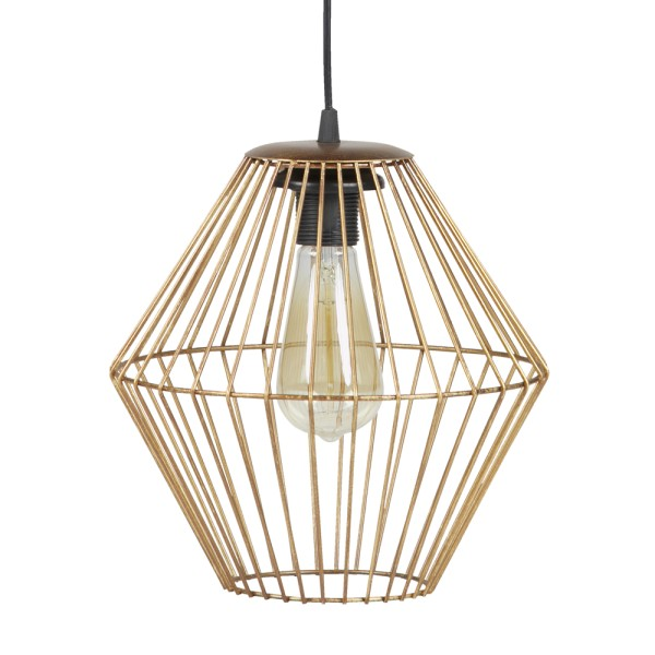 Vintage Hängelampe DIAMANT Hängeleuchte Lampe Pendelleuchte Metall antikmessing