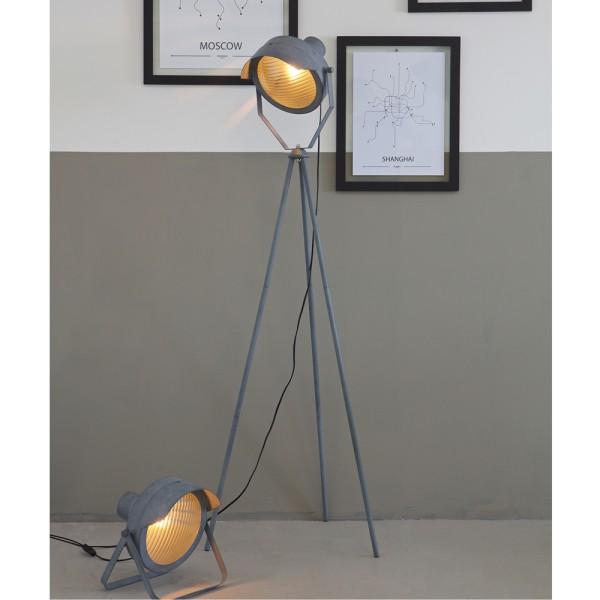 Flurlampe LESTER 155 cm Leuchte Standleuchte Stehlampe Lampe Metall betongrau