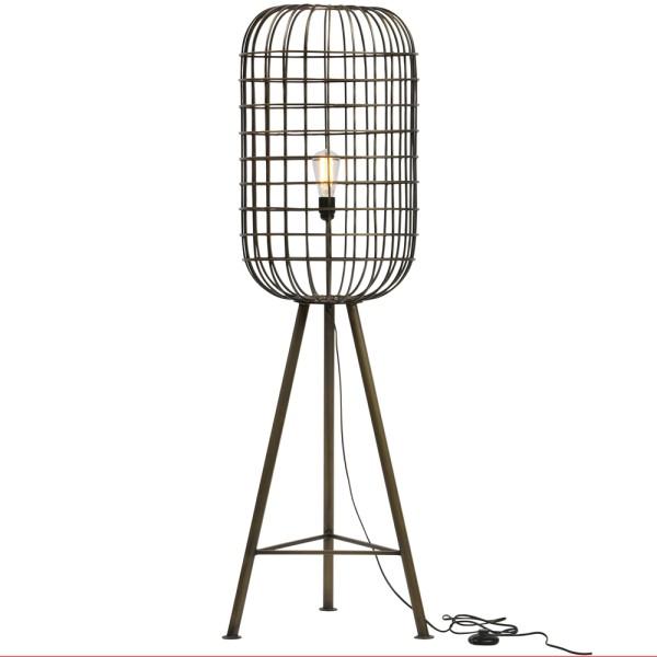 Stehlampe HURRICANE Metall antik messing Flurlampe Lampe Leuchte Standleuchte