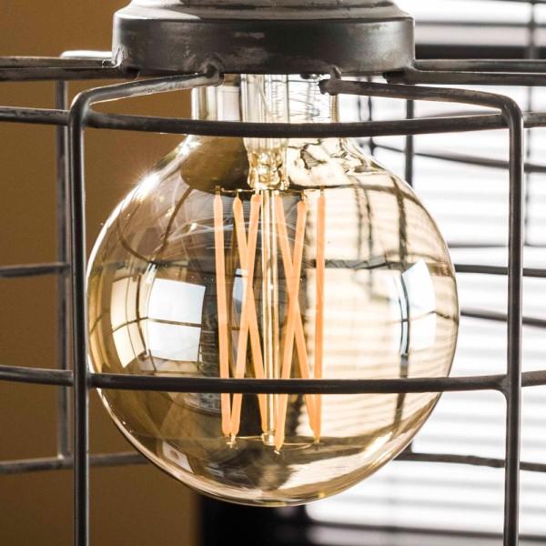LED Glühlampe Filament Globus Ø 9,5 cm Leuchte Glühbirne E27 Lampe dimmbar