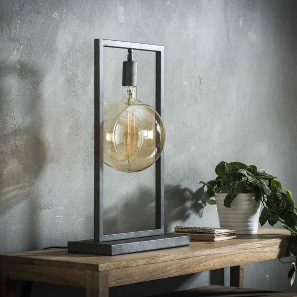 Tischlampe Sky H 55 cm Metallrahmen altsilber Leuchte Tischleuchte Lampe