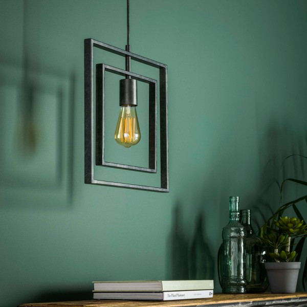 Hängelampe TURNO Square 1 flmg Metall kohlegrau Lampe Deckenlampe Hängeleuchte
