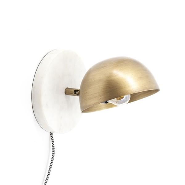 Wandlampe Lisa Marmor weiß Metall messing Wandleuchte Lampe Leuchte Beleuchtung