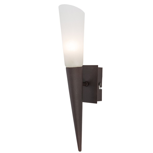 LED Wandleuchte 1-flg. RIVERPOOL Wandlampe Leuchte Flurlampe Lampe rostfarbig