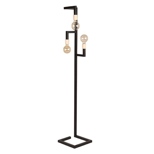 Stehlampe Loco H 165 cm 3 flmg Metall schwarz Standleuchte Stehlampe Lampe