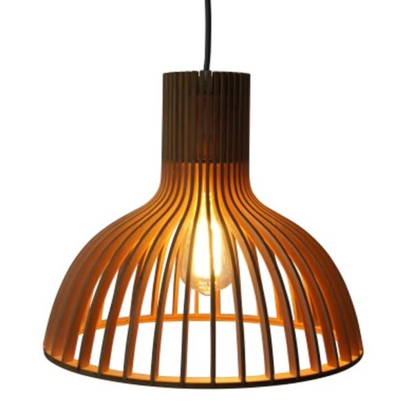 Vintage Hängelampe INDY Ø 45 cm Hängeleuchte Lampe Pendelleuchte Holz braun